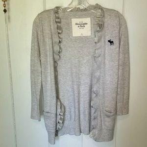 Abercrombie and Fitch Ruffled Cardigan